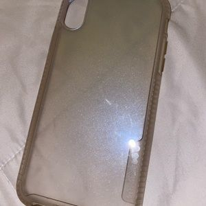 iphone Xr sparkly clear case